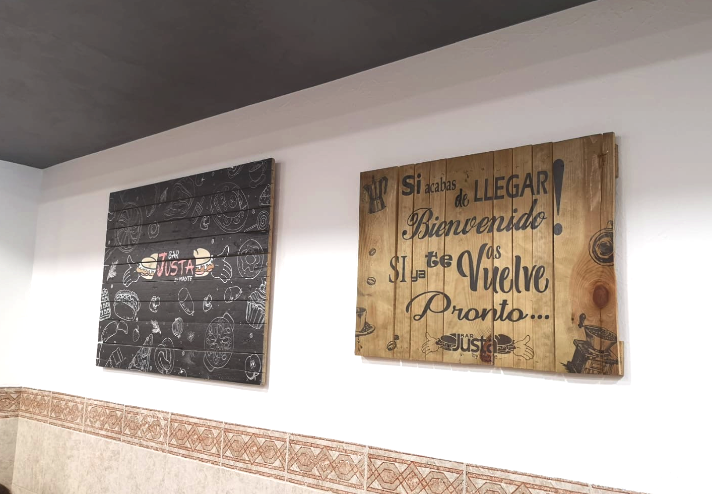 impresión sobre cuadros decorativos de madera