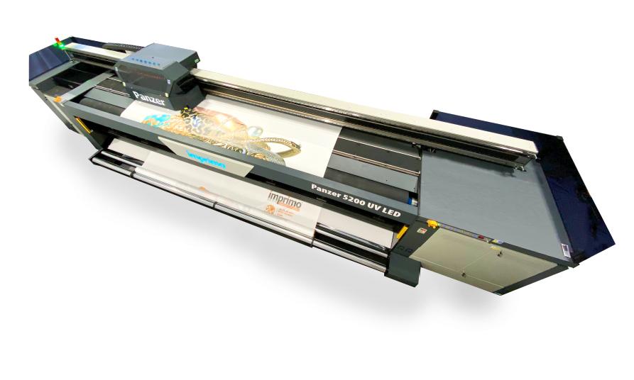 Impresora Rollo a Rollo para flexibles con curado UV LED
